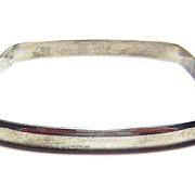 Vintage Square Silver Bangle Bracelet