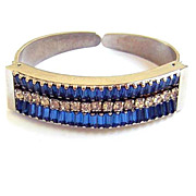 Albert Weiss ~ Blue & Clear Rhinestone Cuff Bracelet