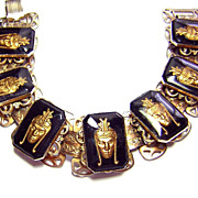 Vintage Golden Oriental King Bracelet
