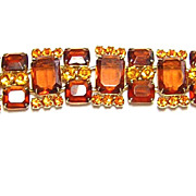 Juliana DeLizza & Elster Topaz Rhinestone Vintage Bracelet