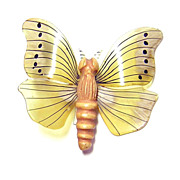 Vintage Celluloid Butterfly Brooch
