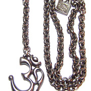 Uno de 50 ~ Hindu Om Symbol Silver Plated Necklace