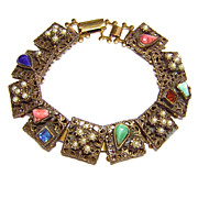 Vintage Embellished Flexible Bracelet