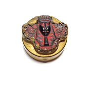 1920s Egyptian Revival Ruby Red Cosmetic Compact