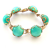 Vintage Aqua Moonglow Bracelet