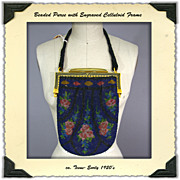 Late Teens to Early 1920's Beaded Purse with Celluloid Frame