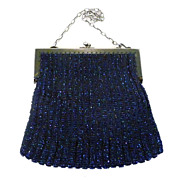 SALE 1920's Beaded Purse with Embossed Frame