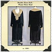 1920's Velvet Dress from Franklin Simon and Co.