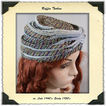 ca. 1940's Raffia and Velvet Turban