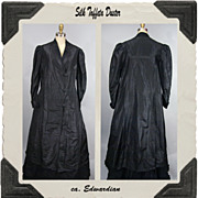 Edwardian Silk Taffeta Duster