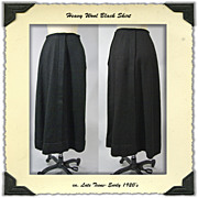 Early 1920s Black wool skirt