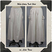 Late Teens Cotton Twill Skirt