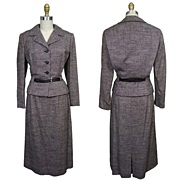 1950's Adele Simpson Wool Tweed Suit