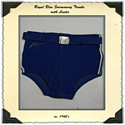 Swimaway Trunks with Lastex, Belted
