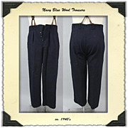 1940s Wool Trousers by Tiger Kl�der of Sweeden