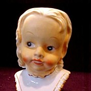 REDUCED Head Vase Baby with Open Mouth