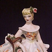 REDUCED Vintage Lefton Lovely Lady Figurine #1858