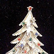 REDUCED Jewelry Vintage Christmas Tree Pin Brooch