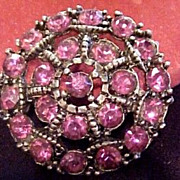 Vintage Purple Round Brooch Pin