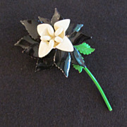 Beautiful Floral Enamel Pin Brooch