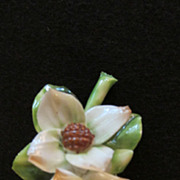 Adderley Floral Made In England Porcelain Brooch