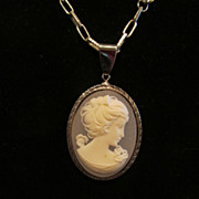 Lovely Vintage Cameo Necklace