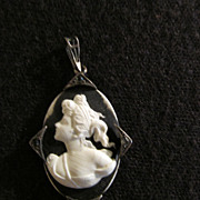 Black & White Cameo Sterling