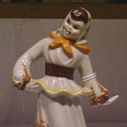 REDUCED Ceramic Arts Lady Figurine California