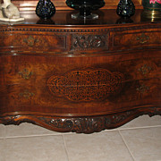 SALE Antique Rococo/Louis XV Walnut Burl Wood 9 pcs. Bedroom Set Stunning