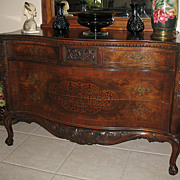 SALE Antique Rococo / Louis XV Walnut Burl Wood 2 over 2 Chest of Drawers