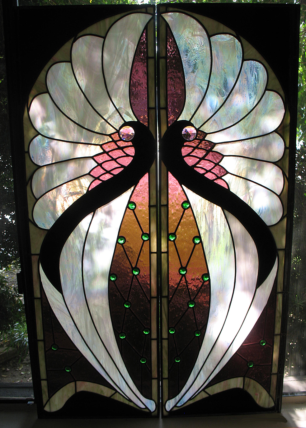 Stained Glass Window Art : Window glass art deco stained