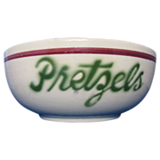 Vintage Watt Ware Pretzels bowl rare #54
