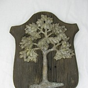 Antique Original American Fire Mark Green Tree Mutual Assurance Co. Philadelphia PA Cast Iron