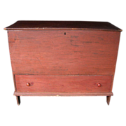 Antique Paint Decorated Mule Chest