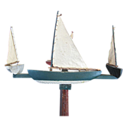 Vintage Sailboat Whirligig