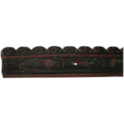 Antique Wooden Folk Art Painted Game Rack