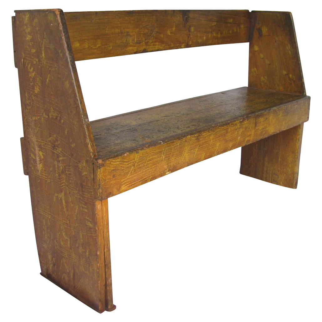 Antique Feather Grain Painted Wooden Camp Bench From . Full resolution  snapshot, nominally Width 1029 Height 1029 pixels, snapshot with #9F6C2C.