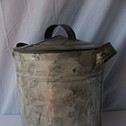 Antique Folk Smoke Decorated Storage Tin