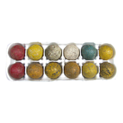 Vintage Dozen Interesting Golf Balls Painted