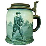 Antique Golf Theme O'Hara Dial Ceramic Stein