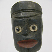 Antique Folk Art Carved Black Americana Whimsey
