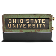 Antique Roll Bus or Trolley Destination Sign Ohio State University Columbus