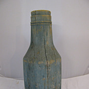 Antique Folk Art Painted Wooden Bottle Trade Sign