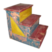 Antique Painted Wooden Carnival or Circus Stairs Display