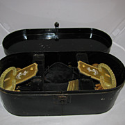 Antique Complete Officers Set c. 1900 Epaulettes Hat Sword Belt Case