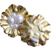 GIVENCHY Clip Earrings-Faux Pearl Flower Motif-Refreshing!