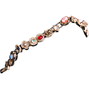 GOLDETTE SLIDE Bracelet-Unsigned But Unmistakable-15 Sweet Charms