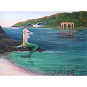 MERMAID COVE-Soaring Seagull-Canvas Giclee-Limited Edition of 200-16 X 20