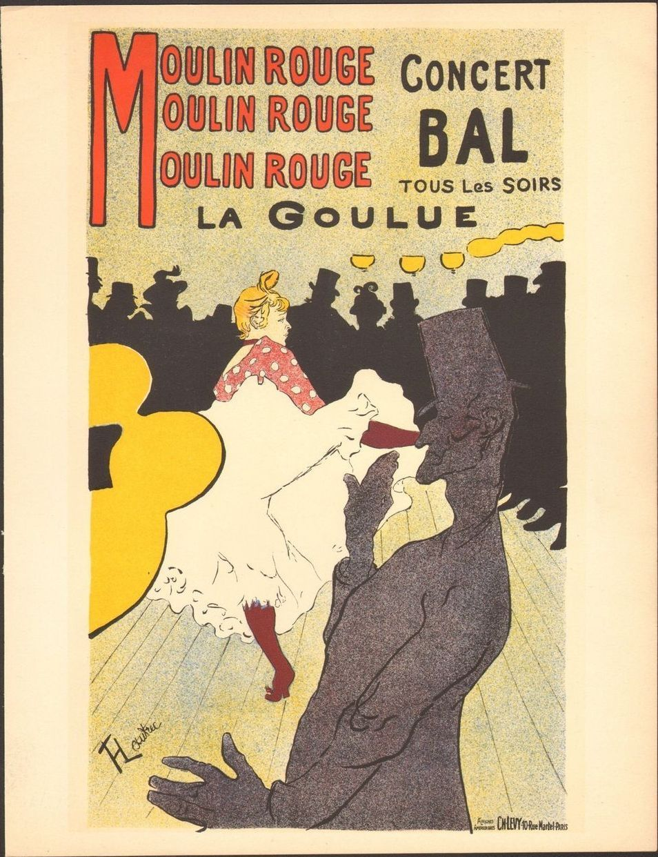 toulouse lautrec's la goulue au moulin rouge The women lautrec depicted in au moulin rouge, painted in 1892  were all lesbians: la macarona, la goulue, la môme fromage, and in the  lautrec's favorite.