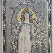 Sensational German Art Nouveau Postcard 1905.
